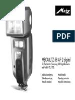 Mecablitz 58 AF 2 Digital Pentax D F NL GB I E