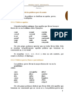 Clasificación de las palabras por el acento