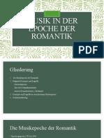 Musik in der Epoche der Romantik (Präsentation; Exkurs Deutsch)
