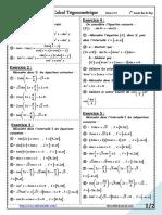 1ere Série Calcul Trigonométrique