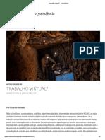 Ricardo Antunes - Trabalho virtual - Comciência