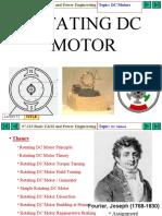 Dc motor slides