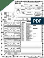 Character Sheet - Bard
