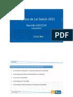 Apresentação CLDF - Projetos de Lei 2021