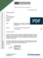 Observaciones de Osinergmin al COES PR31