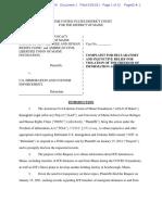ACLU v ICE Complaint