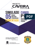 05 - Simulado Comentado - Cargo PRF - Projeto Caveira