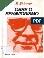 Sobre o Behaviorismo - Introdução