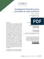 InvestigacionFormativa y La Educacion Artistica
