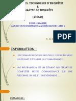 Sondages, Techniques d'Enquêtes & Analyse de Données (STEAD) -  Master AEM