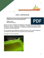 Relatório de Serviço troca de óleo lubrificante compressor de partida BE