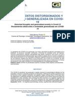 PENSAMIENTOS DISTORSIONADOS YANSIEDAD GENERALIZADA EN COVID-19