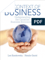 Context of Business Understanding the Canadian Business Environment, The - Wei Zhi