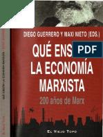 Diego Guerrero; Maxi Nieto (eds.) - Qué enseña la economía marxista. 200 años de Marx (OCR)