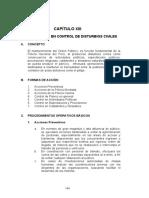 CAPITULO  XIII Procedimientos en el Control Disturbios