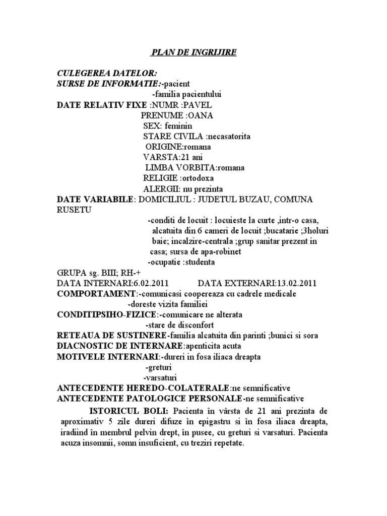 Plan de ingrijire nursing hernie inghinala
