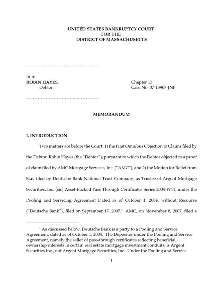 Hayes V Deutsche Mortgage Law Foreclosure