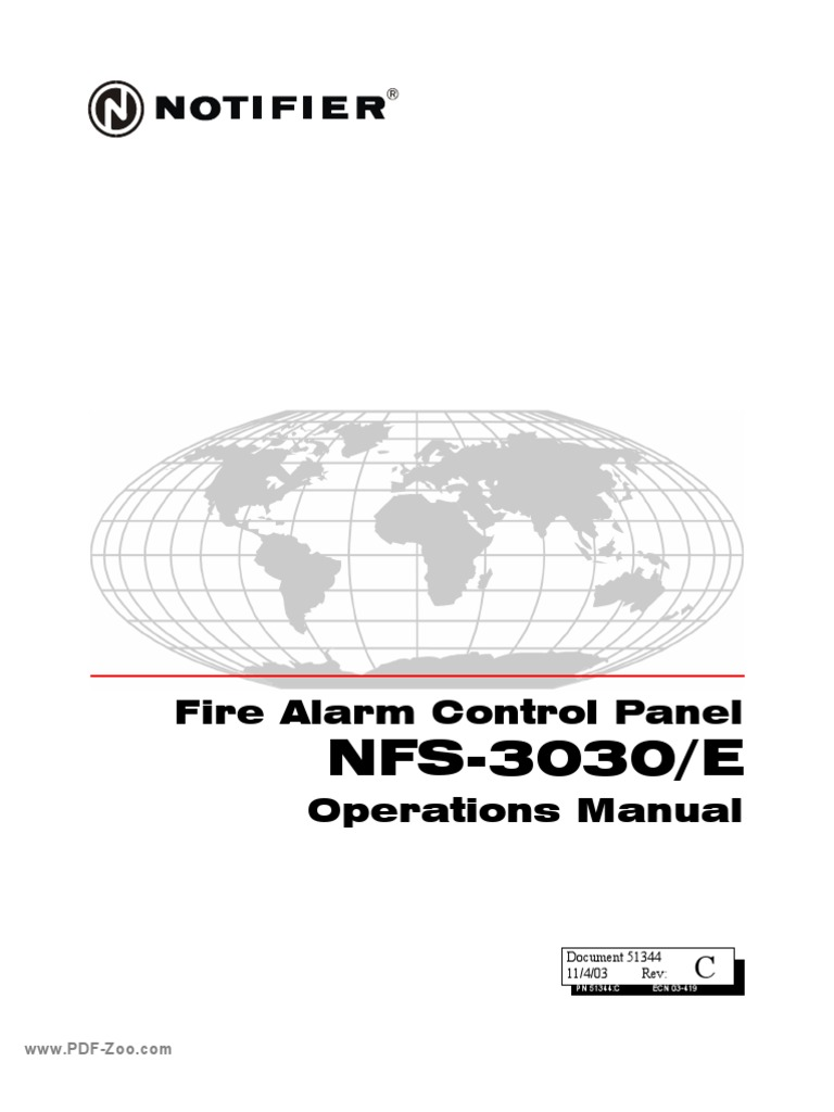 Notifier - NFS-3030-E Operations Manual | Security Alarm ...