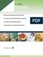 Clinical Research Update - Nutrilite Saw Palmetto