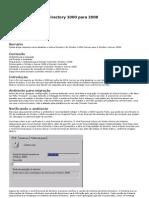 Migração de Active Directory 2000 para 2008