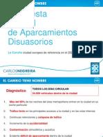Propuestas PP Aparcamientos Disuasorios