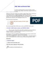 PLsql nested tables