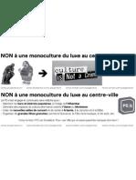 """Flyer """"NON à la Monoculture du luxe"""""""