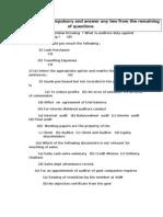 Complete test as per april 2010 paper except 1st question-audit