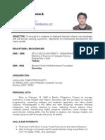 jhelo new resume
