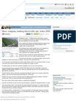 Yahoo! News Archive - Science News -Mass. Company Making Diesel With Sun, Water, CO2 - Retrieved February 28, 2011