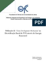 Utilização de 'Clean Development Mechanism' na Electrificação Rural