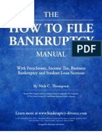 THE HOW TO FILE BANKRUPTCY MANUAL