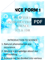 SCIENCE FORM 1
