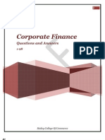 corporate finance 98 questions