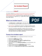 An Incident Report