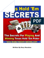 Rory Monahan - Texas Hold'Em Secrets