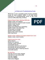 Four-Stroke Engine Basic Troubleshooting
