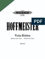 Hoffmeister - Etudes for Viola