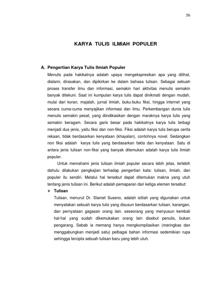 Best Contoh Karya Ilmiah Populer Pertanian Image Collection