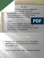 Statistik & Pengawasan Mutu