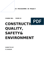 PGPM23, CONSTRUCTION WUALITY, SAFETY & ENVIRONMENT