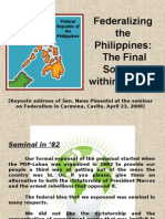 Federalism Presentation of Aquilino Pimentel, Jr.