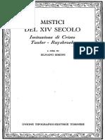 Mistici Cristiani Del XIV Secolo - Imitazione Di Cristo, Tauler, Ruysbroek [Ita - Filosofia Saggi Religione Utet - Byfanatico 2011]