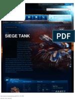 Siege Tank-Unit Description - Game - StarCraft II
