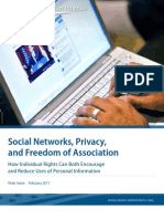 Social Networks, Privacy, and Freedom of Association
