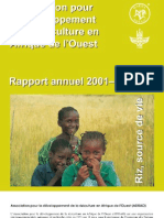 AfricaRice Rapport annuel 2001-2002