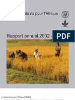 AfricaRice Rapport annuel 2002-2003