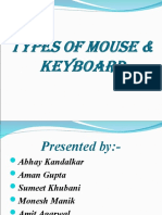 Types of mouse & keyboard2