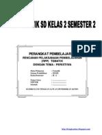 Rpp Tematik Sd Kelas 2 Semester 2