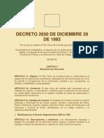 Decreto 2650 Del 29 de Diciembre de 1993